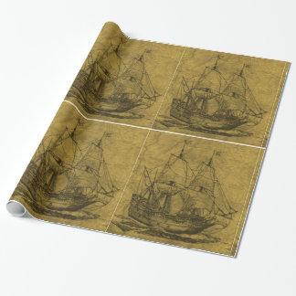 Vintager Schooner Geschenkpapier