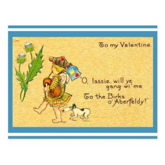 Vintager schottischer Valentine1906 Postkarte