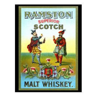 Vintager schottischer Whisky AUFKLEBER Postkarte