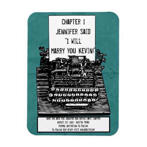 Vintager Schreibmaschinen-Magnet