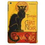 Vintager schwarzer Katzen-Kunst Nouveau Paris iPad Air Hülle