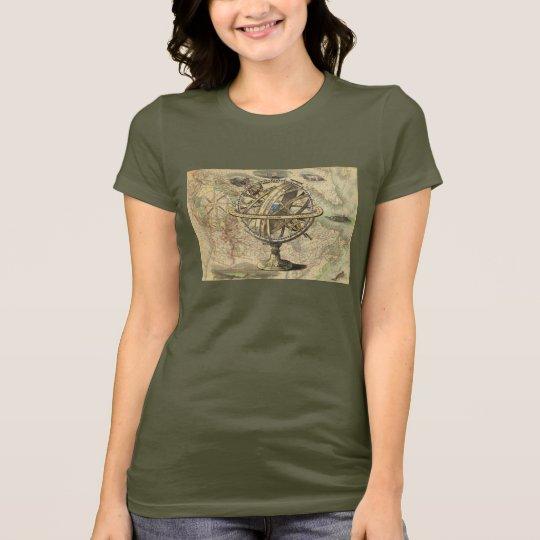 Vintager Seekompaß und Karte T-Shirt