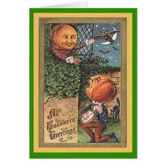 Vintager singenkürbis-Mann Karte