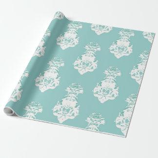 Vintager Smaragdhintergrund Geschenkpapier