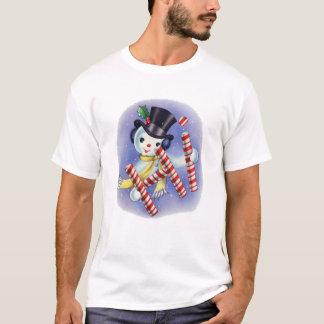 "Vintager Snowman ""hallo"" T - Shirt"