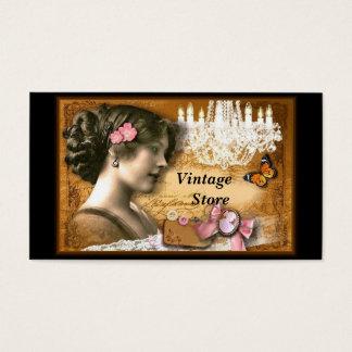 Vintager Speicher-antiker Speicher Visitenkarten