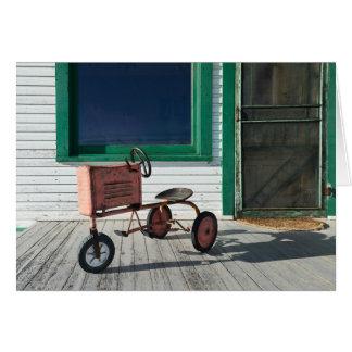 Vintager Spielzeug-Traktor Grußkarte
