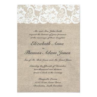 Vintager Spitze-Blick u. 12,7 X 17,8 Cm Einladungskarte