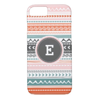 Vintager Stammes- Muster-Monogramm iPhone Fall iPhone 7 Hülle