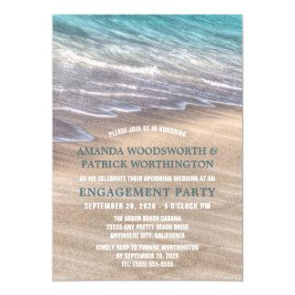 Vintager Strand bewegt Verlobungs-Party 12,7 X 17,8 Cm Einladungskarte