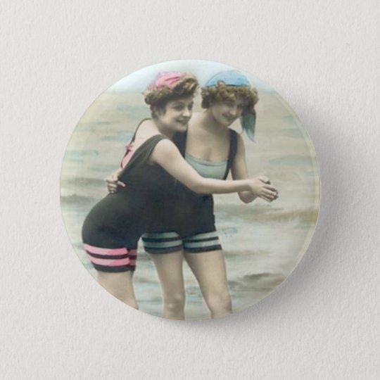 Vintager Sun-Badegast-Strand-runder Knopf Runder Button 5,1 Cm