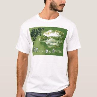 Vintager Tag Kleeblatt-Emerald Isle St Patrick T-Shirt