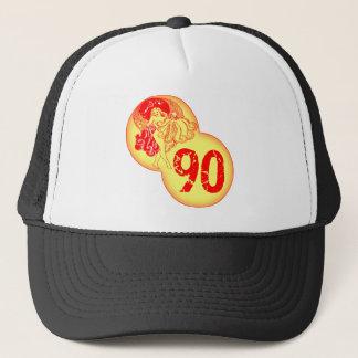 Vintager Tänzer-90. Geburtstags-Geschenke Truckerkappe