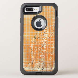 Vintager Tattered Franzose-Speicher-Empfang OtterBox Defender iPhone 7 Plus Hülle