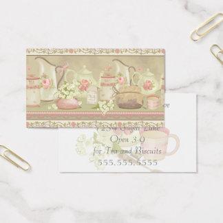Vintager Tee Anitque Visitenkarte
