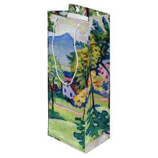 Vintager Tegernsee LandschaftsAugust Macke Geschenktüte Für Weinflaschen