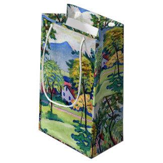 Vintager Tegernsee LandschaftsAugust Macke Kleine Geschenktüte