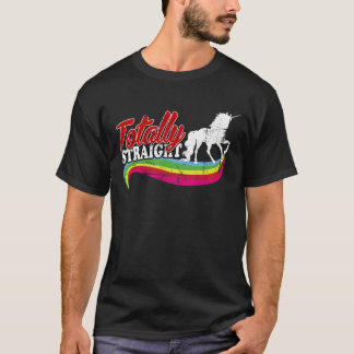 Vintager total gerader Unicorn T-Shirt