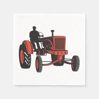 Vintager Traktor Serviette