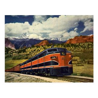 Vintager Transport im amerikanischen Westen, Zug Postkarte
