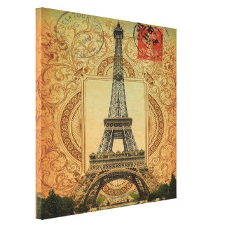 Vintager Turm Paris Eiffel des modernen girly Leinwanddruck