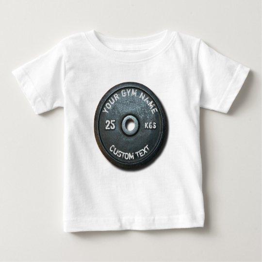 Vintager Turnhallen-Inhaber oder Benutzer mit der Baby T-shirt