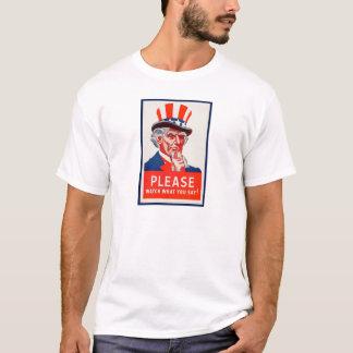 Vintager Uncle Sam WW2 Propaganda-T - Shirt
