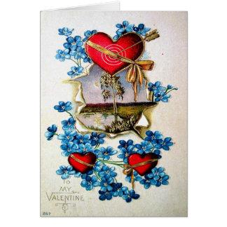 Vintager Valentine Karte