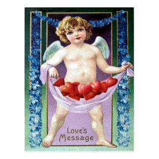 Vintager Valentine Postkarte