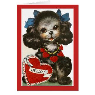 Vintager Valentine-Welpe Karte