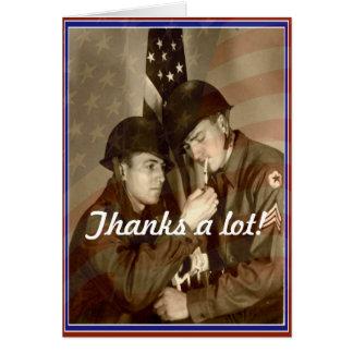 Vintager Veteranen-Tag, Dank viel! - Militärkarte Karte