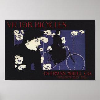 Vintager Victor fährt Anzeigen-Kunst-Plakat rad Poster