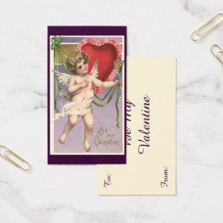 Vintager viktorianischer Amor des Valentines Visitenkarte