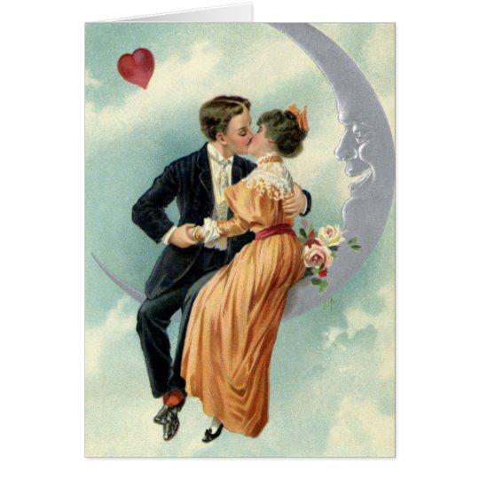 Vintager viktorianischer Kuss des Valentines Karte