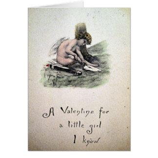 Vintager viktorianischer Valentine Karte