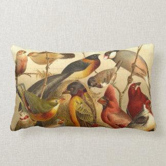 Vintager Vogeldruck Lendenkissen
