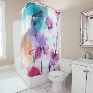 Vintager Watercolor-Blumendruck Duschvorhang