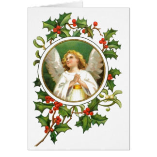Vintager Weihnachtsengel Grußkarte