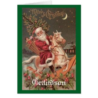 Vintager Weihnachtsenkel Karte