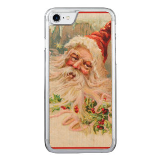 Vintager Weihnachtsmann Carved iPhone 8/7 Hülle