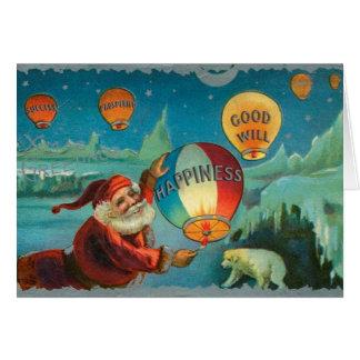 Vintager Weihnachtsmann Karte