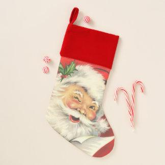 Vintager Weihnachtsmann Weihnachtsstrumpf