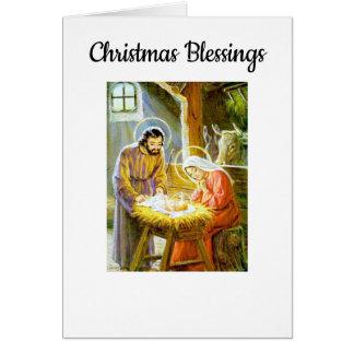 Vintager Weihnachtssegen Karte