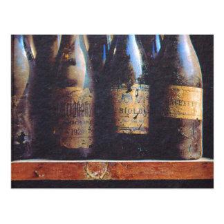 Vintager Wein Postkarten