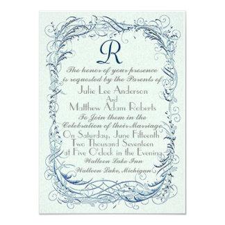 Vintager Wirbel 11,4 X 15,9 Cm Einladungskarte