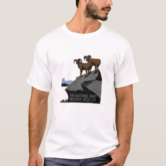 Vintager WPA Nationalpark-T - Shirt: RAMs auf T-Shirt