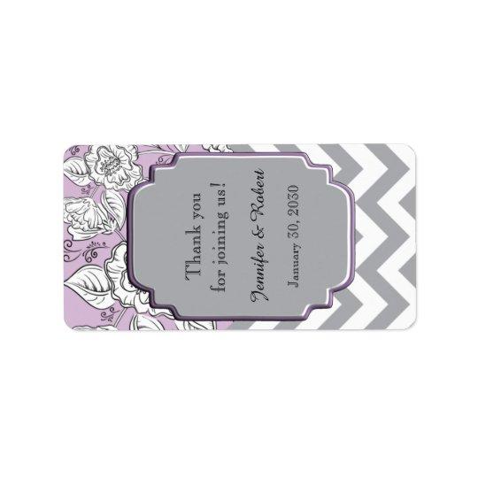 Vintager Zickzack Hochzeits-Lippenbalsam-mit Adressaufkleber
