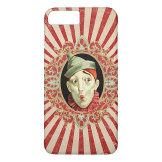Vintager Zirkus-Clown mit Rot beunruhigten iPhone 7 Plus Hülle