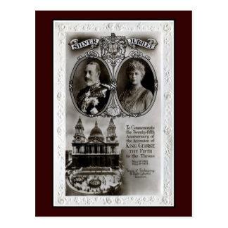 Vintages 1935, 25. Jubiläumzugang König George V Postkarte