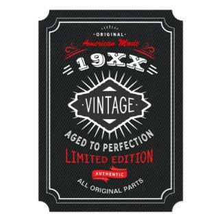 Vintages 40., 50. oder 60. Geburtstags-Party laden Karte